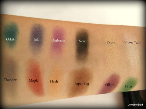 Swatches, names