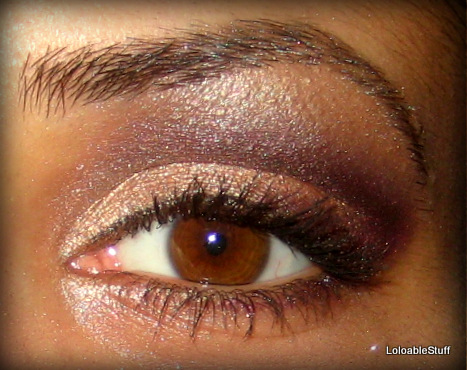 Sleek Sparkle 2 palette eye shadow look  make-up