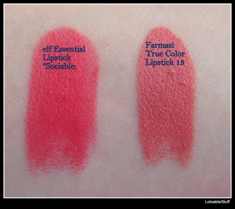 Farmasi true color lipstick 13 elf essential sociable swatch