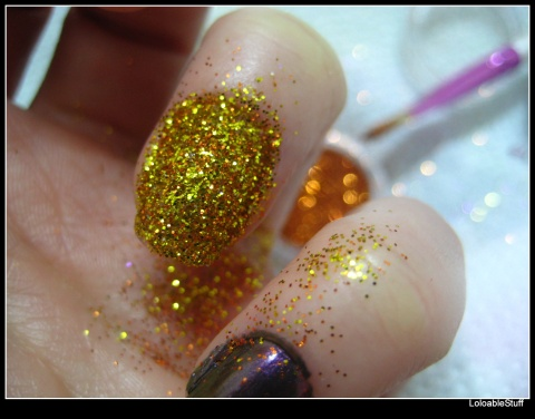 Glitter nail polish NOTD week in pictures