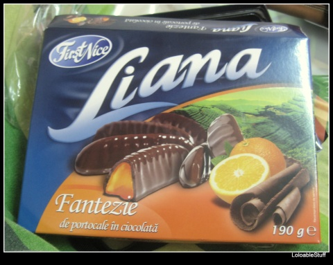 LIDL Liana jeleu de portocale in ciocolata chocolate coated orange jelly