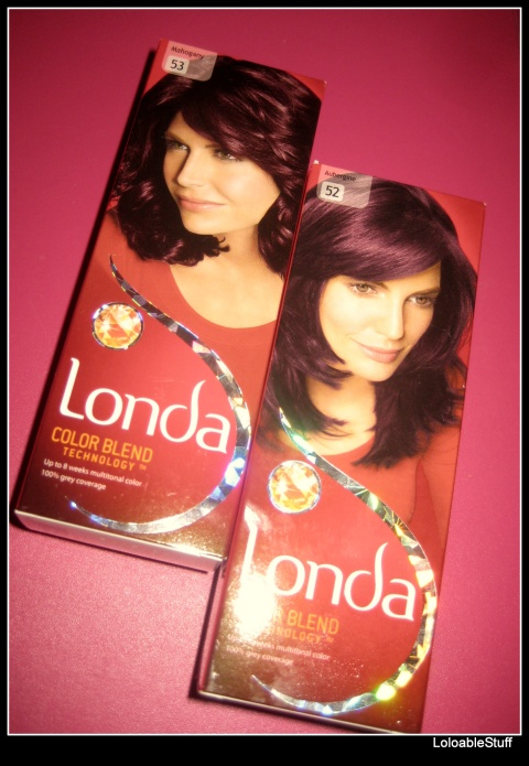 Londa hair dye color 52 53 mahgany aubergine vopsea de par