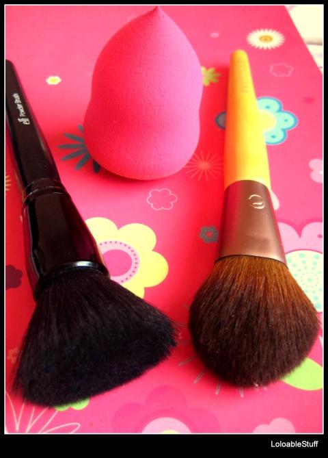 elf powder brush ecotools tapered blush brush beauty blender dupe