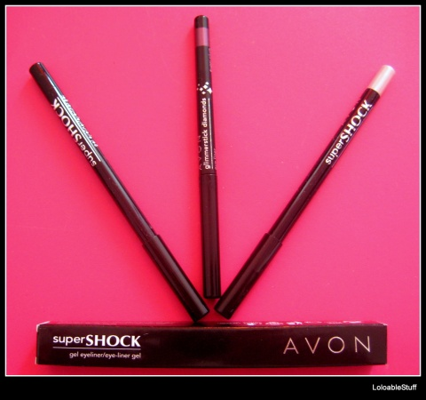 Avon eye liners super shock glimmerstick flash sugar plum