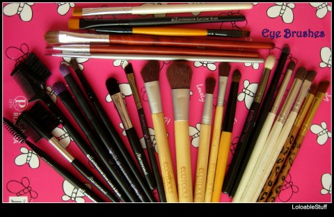 Eye brushes elf  EcoTools by Alicia Silverstone eyeliner angled shading crease blending