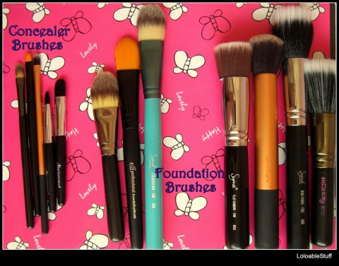 Concealer Foundation Flat Top Stipple Brushes Elf Sigma Real Techniqes Hello Kitty MAC