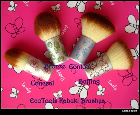 EcoTools by Alicia Silverstone kabuki brushes Conceal Bronze Contour Buffing brushes