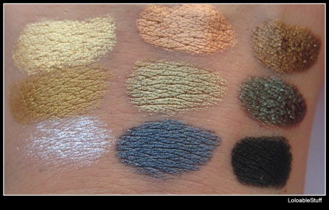 Naked nude metallic eyeshadow pictures swatch