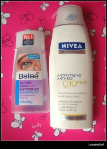 Balea waterproof bifazic Nivea anti rid Q10 lapte demachiant