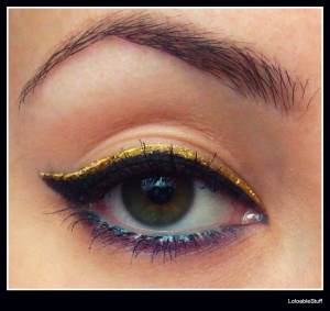 Essence MUA eye liner tus dublu EOTD make-up machiaj