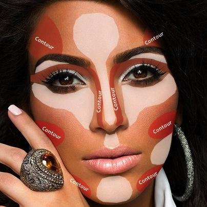 Kim Kardashian Contouring Makeup Guide Pinterest