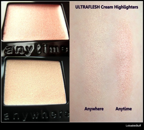 Ultraflex shinebox StrawberryNET all over cream highlighter anywhere anytime swatch review Loloablestuff