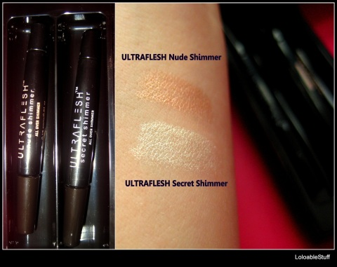 ULTRAFLESH SHINEBOX all over natural secret shimmer swatch review Loloablestuff