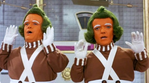 Willy Wonka oompa loompa attacks man virginia orange foundation